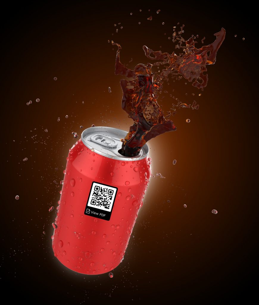 QR code on cola can