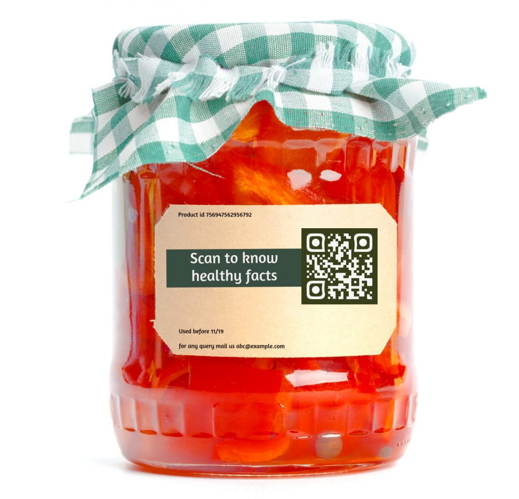 QR code on jar