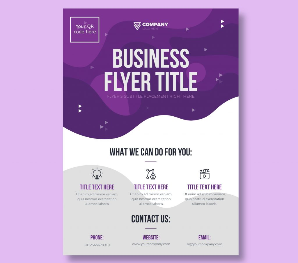 Business Flyer outline image