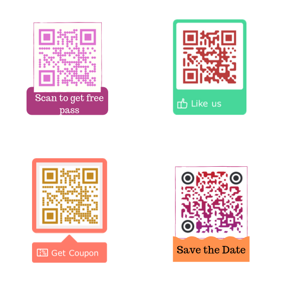 QR code with different texts