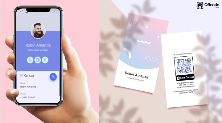 dynamic vcard qr code make a digital appealing business card